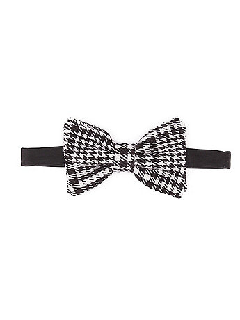 Unisex Brushed Check Bow Tie