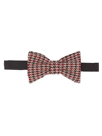Unisex Light Horse Check Bow Tie