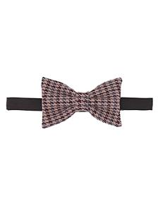 Unisex Light Horse Check Bow Tie
