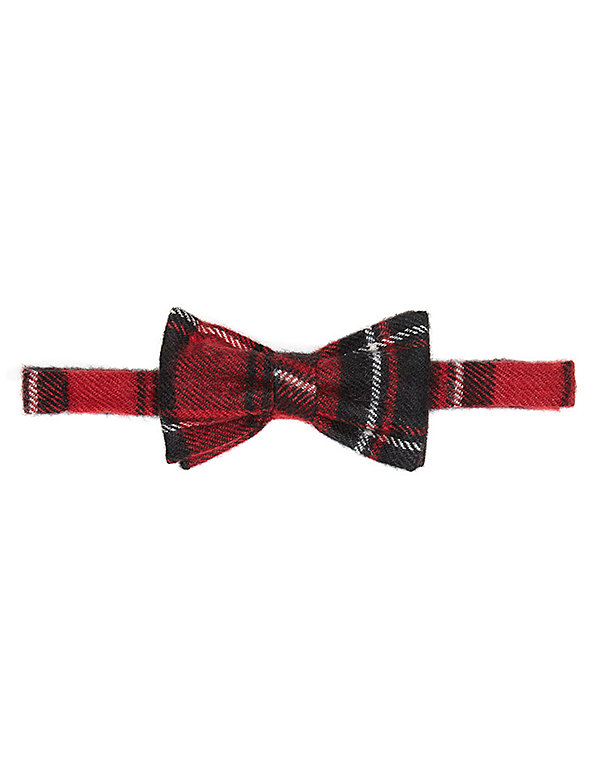 Unisex Plaid Bow Tie