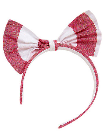 Wide Stripe Bow Headband