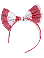 Wide Stripe Bow Headband