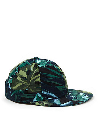 The Jungle Leaves Printed Cap