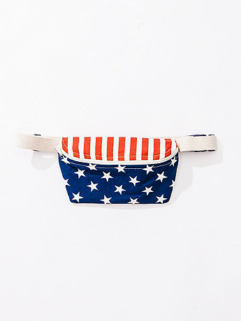 Stars & Stripes Print Fanny Pack