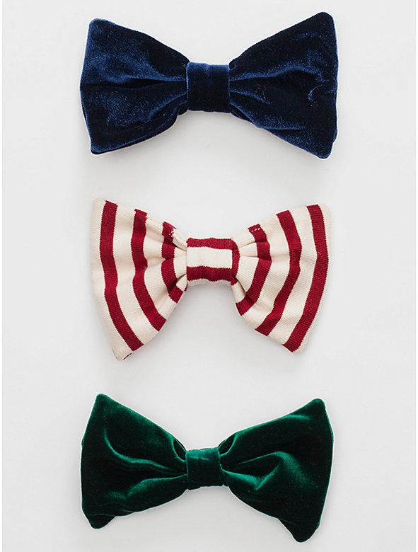 Bow Hair Clip (3-Pack)