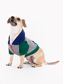 Zinc Lapis Green Flex Fleece Color Block Dog Hoodie