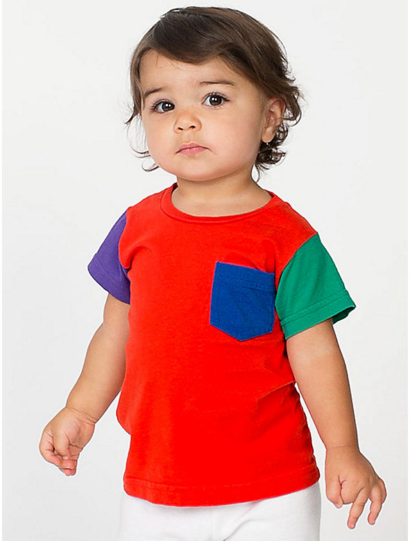 Infant Fine Jersey Short Sleeve Pocket T-Shirt