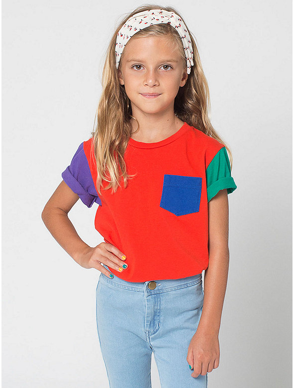 Colorblock Kids' Fine Jersey Short Sleeve Pocket T-Shirt