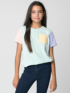Youth Fine Jersey Pocket Short Sleeve T-Shirt