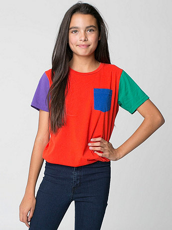 Youth Fine Jersey Pocket Short Sleeve T-Shirt