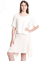 Fine Jersey Drape Skirt