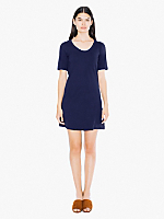 Fine Jersey Short Sleeve Crew Neck T-Shirt Dress