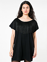 Oversized Scoop Back Fringe Mini