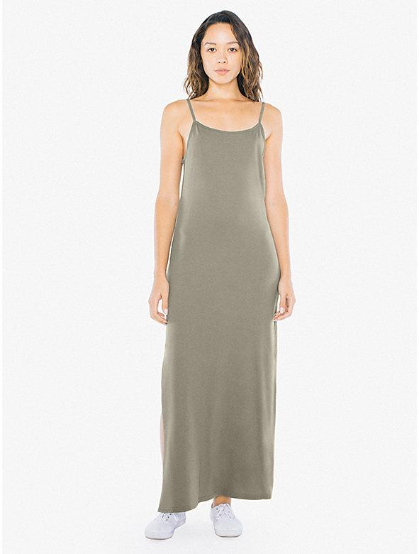 Fine Jersey Tank Slit Maxi Dress