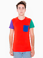 Power Washed Color Block Pocket Tee