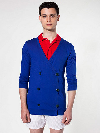 Fine Jersey Double-Breasted Cardigan
