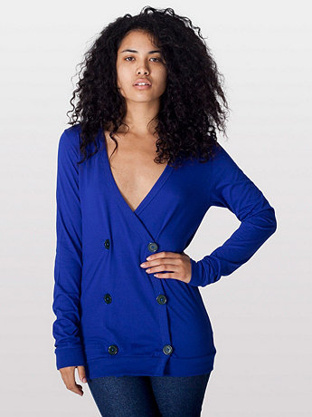 Unisex Fine Jersey Double-Breasted Cardigan