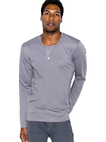 Fine Jersey Long Sleeve Placket Henley