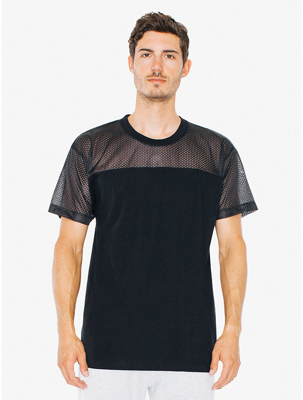 Athletic Mesh Contrast T-Shirt