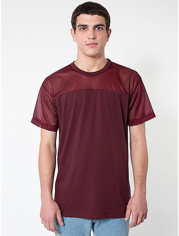 Athletic Mesh Contrast T-Shirt