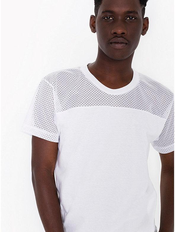 Athletic mesh contrast t shirt american apparel factory for American apparel mesh shirt