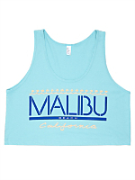 Screen Printed Power Wash Crop Top - Malibu Local