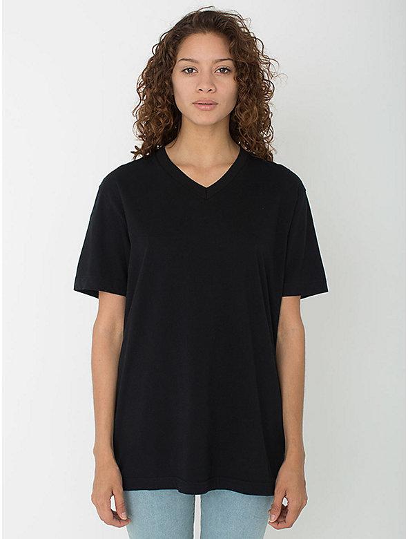 Unisex Power Wash V-Neck T-Shirt
