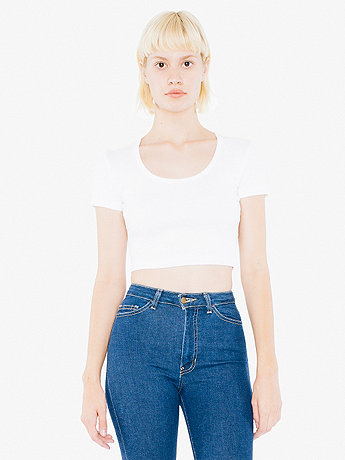 Rib Button Crop Top