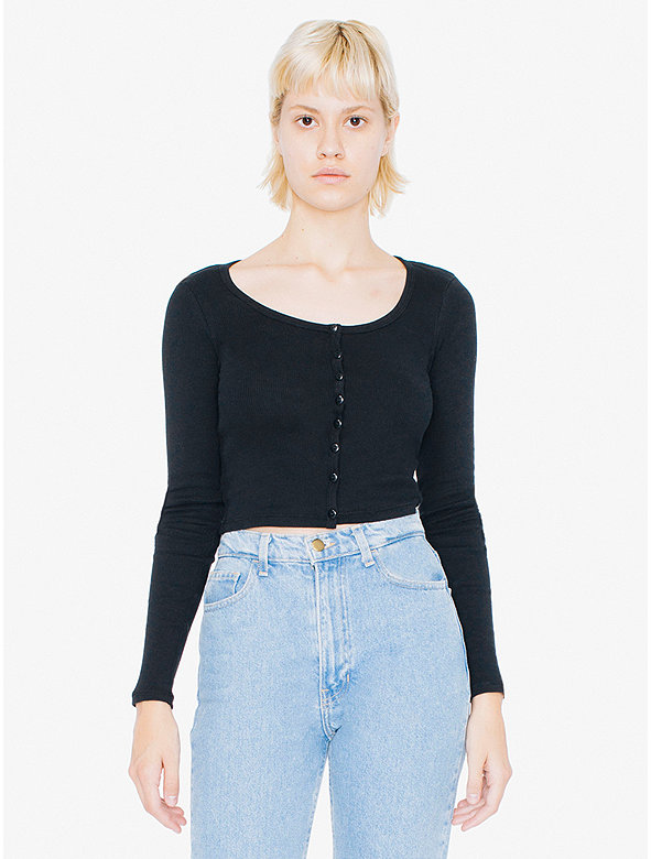 2x1 Rib Long Sleeve Crop Top