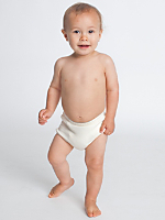 Organic Infant Baby Rib Diaper Cover