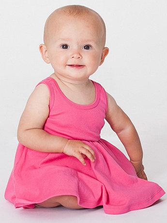 Infant Baby Rib Skater Tank Dress