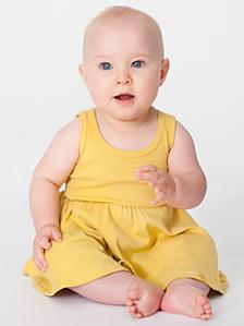 Organic Infant Baby Rib Skater Tank Dress