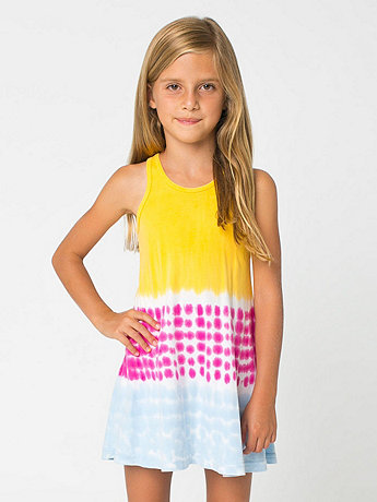 Kids Tie Dye Baby Rib Tank Dress