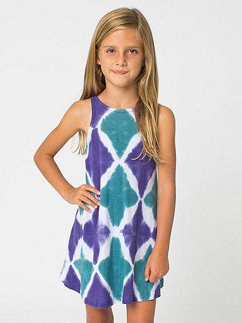 Kids Tie Dye Baby Rib Tank Dress