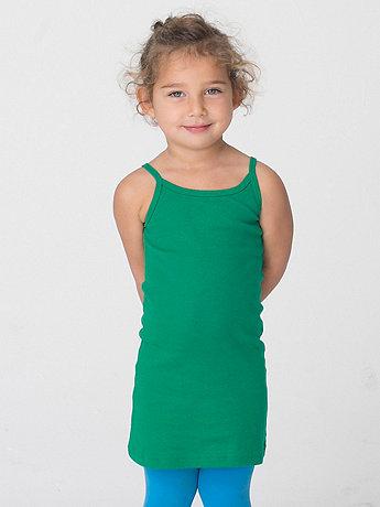 Kids' Baby Rib Spaghetti Tank Dress