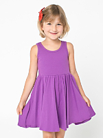 Organic Kids Baby Rib Skater Tank Dress