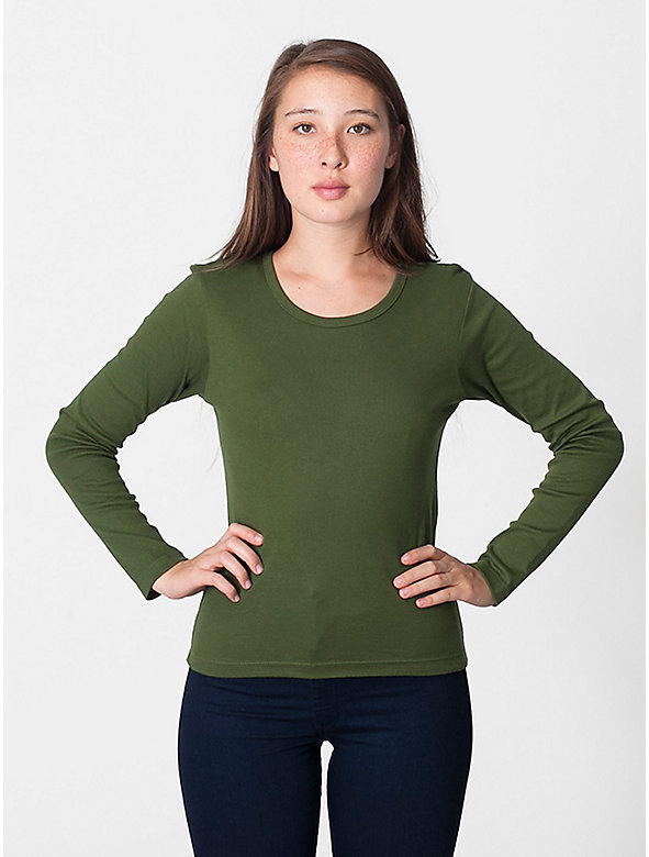Baby Rib Long Sleeve Scoop Neck T