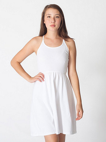 Baby Rib Cross-Back Summer Dress