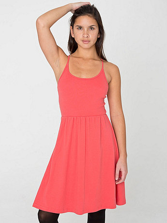 Organic Baby Rib Cross-Back Summer Dress