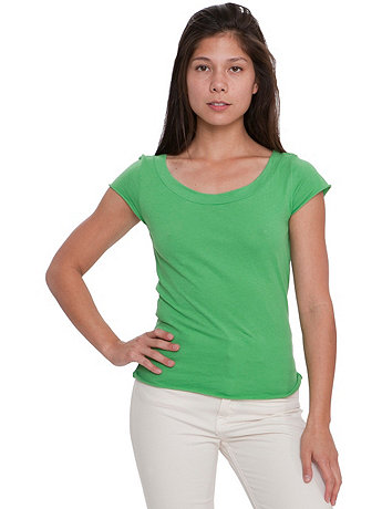 Sheer Jersey Girly T with Merrow® Hem