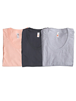 Sheer Jersey Loose Crew Summer T-Shirt (3-Pack)