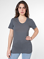 Unisex Sheer Jersey Loose Crew Summer T-Shirt
