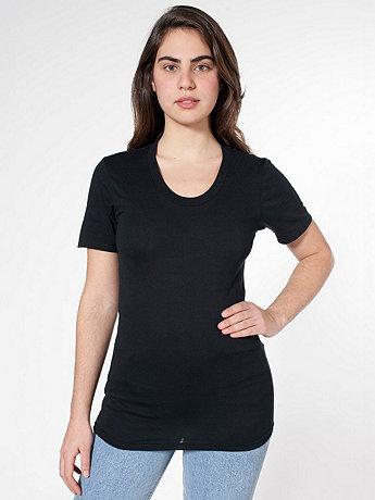 Unisex Sheer Jersey Loose Crew Summer T-Shirt