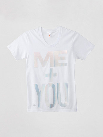 Me + You Sheer Jersey T-Shirt