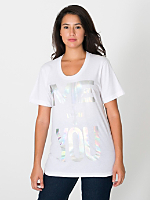 Unisex Me + You Sheer Jersey T-Shirt