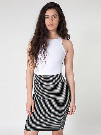 Stripe Interlock Pencil Skirt
