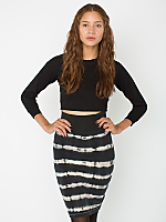 Tie Dye Interlock Pencil Skirt