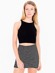 Stripe Interlock Mini Skirt