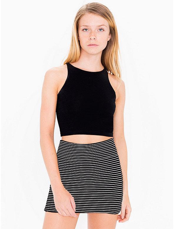 Stripe Interlock Mini Skirt