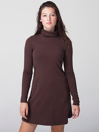 Interlock Turtleneck Tent Dress